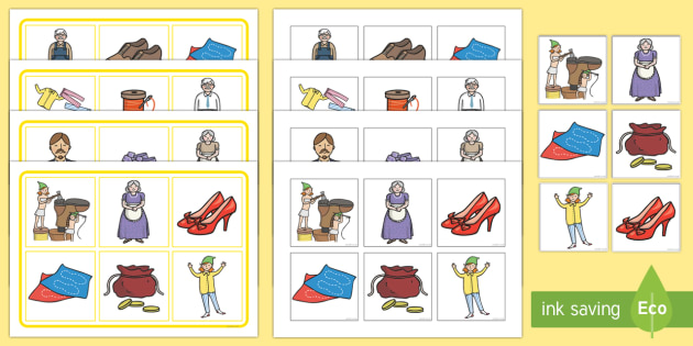The Elves and The Shoemaker Matching Pictures Board Game - The Elves and the Shoemaker, traditional tales, game, board game, taking turns, psed,