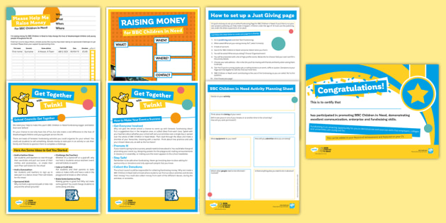 BBC Children in Need Tutor Time Resource Pack