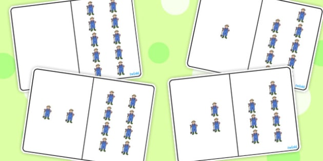 Farmer Counting Number Bonds to 10 - counting, number, bonds, 10
