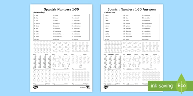 free spanish numbers 1 30 how many worksheet worksheets spain. Black Bedroom Furniture Sets. Home Design Ideas