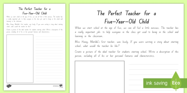 FREE! - The Perfect Teacher Worksheet / Worksheet - New ...