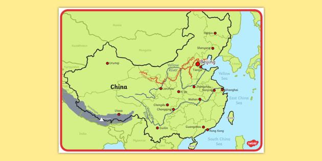 China Map Poster.Map Of China Display Poster China Map Poster Display Poster