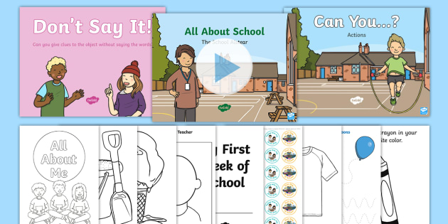 NEW * Junior Infants First Day at School Activity Pack