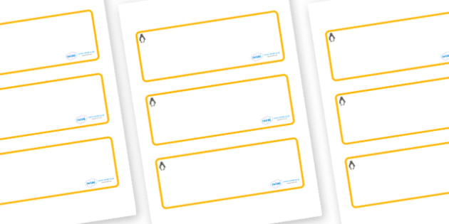 Penguin Themed Editable Drawer-Peg-Name Labels (Blank) - Themed Classroom Label Templates, Resource Labels, Name Labels, Editable Labels, Drawer Labels, Coat Peg Labels, Peg Label, KS1 Labels, Foundation Labels, Foundation Stage Labels, Teaching Labe