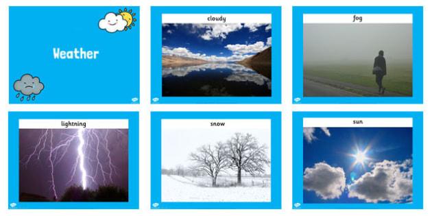 Weather Display Photos PowerPoint - powerpoint, power point, interactive, powerpoint presentation, weather, weather conditions, different weather, sunny, rainy, weather powerpoint, weather photos, photo images, weather photos powerpoint, presentation