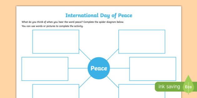 Peace Writing Worksheet / Activity Sheet-Irish, worksheet