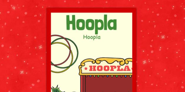 Christmas Themed Hoopla Poster Polish Translation - polish, christmas, themed, hoopla, poster, display