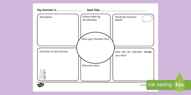 Character Study Activity - English Resource - Twinkl