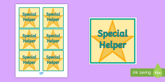 Special Helper Badge - badge, help, special, helper, sign