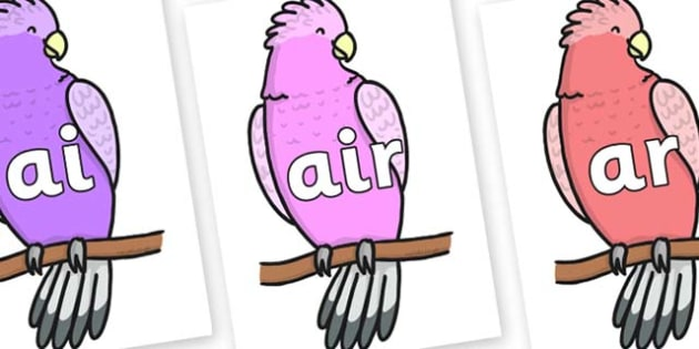 Phase 3 Phonemes on Galah - Phonemes, phoneme, Phase 3, Phase three, Foundation, Literacy, Letters and Sounds, DfES, display