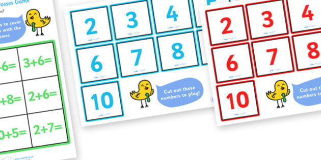 Addition Noughts and Crosses Activity (to 10) - Addition, math, maths activity, add, adding, plus, more, Numeracy, Foundation numeracy, Maths activities