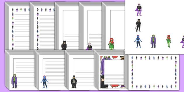 Editable Villain Page Borders Pack - editable, villain, page borders