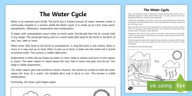 Save water report writing