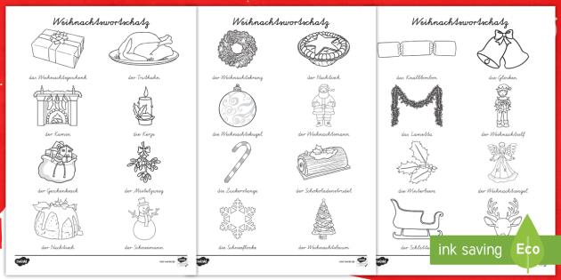 weihnachtlicher wortschatz ausmalbilder weihnachten. Black Bedroom Furniture Sets. Home Design Ideas