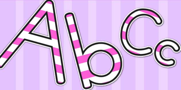 Stripey Pink Display Lettering - lettering, letters, display