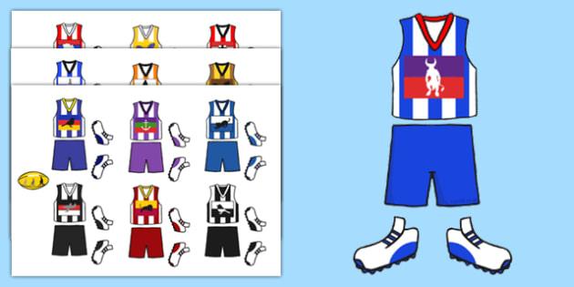 AFL Australian Football League Football Kit Cut Outs - display