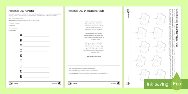 New armistice day poetry activity pack armistice first new armistice day poetry activity pack armistice first world war wwi ccuart Choice Image