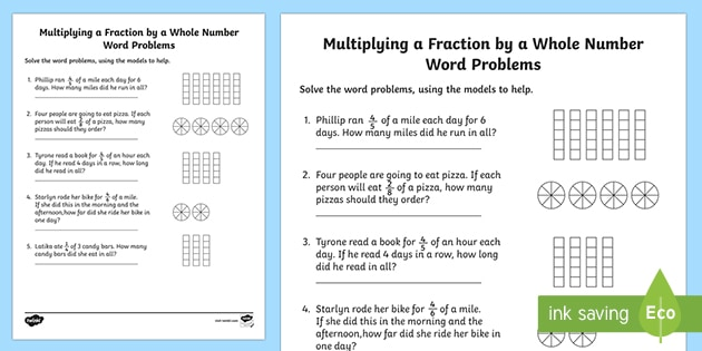 Multiplying Fractions With Models - Whole Numbers