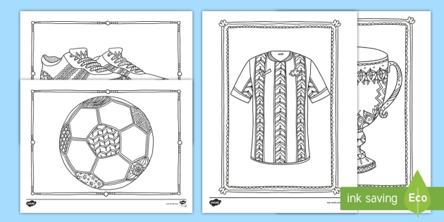 World Cup Soccer Mindfulness Coloring Worksheets English ...