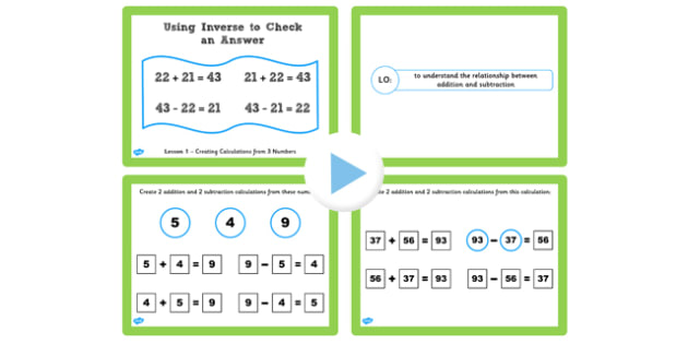 Y3 Inverse Lesson 1 Creating Addition Subtraction Calculations