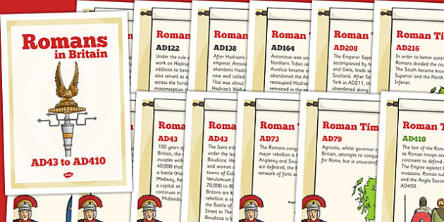 Roman Timeline Posters - romans, timeline, visual aid, history