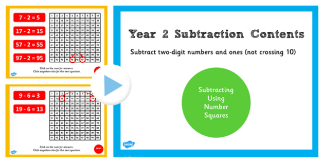 Year 2 Subtracting 2 Digit Numbers and Ones Not Crossing Number