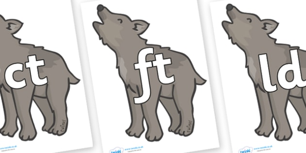 Final Letter Blends on Wolf Cubs - Final Letters, final letter, letter blend, letter blends, consonant, consonants, digraph, trigraph, literacy, alphabet, letters, foundation stage literacy