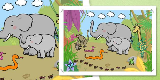 Jungle Scene Picture - jungle scene, picture, jungle, scene