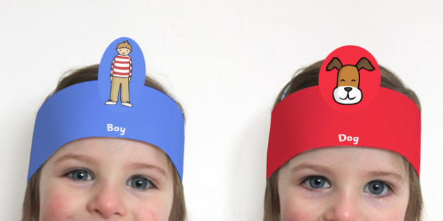 Role Play Headbands to Support Teaching on The Blue Balloon - roleplay, props, stories