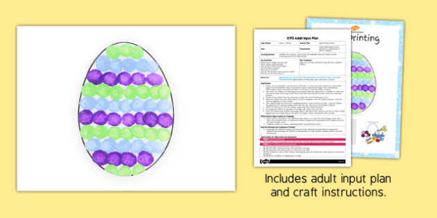 Egg Printing Craft EYFS Adult Input Plan and Resource Pack - craft, adult input plan, pack