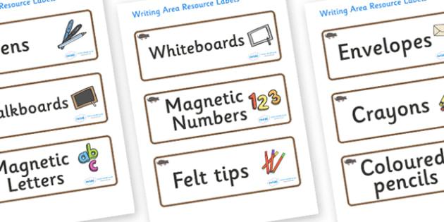 Mole Themed Editable Writing Area Resource Labels - Themed writing resource labels, literacy area labels, writing area resources, Label template, Resource Label, Name Labels, Editable Labels, Drawer Labels, KS1 Labels, Foundation Labels, Foundation S