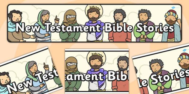New Testament Bible Stories Display Banner - display, banner