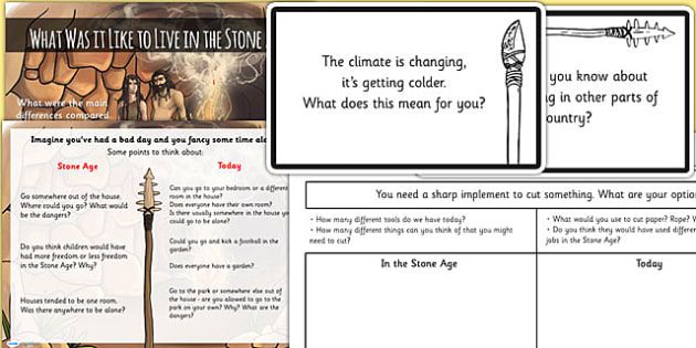Stone Age Challenge Cards Activity Pack - stone age, challenge