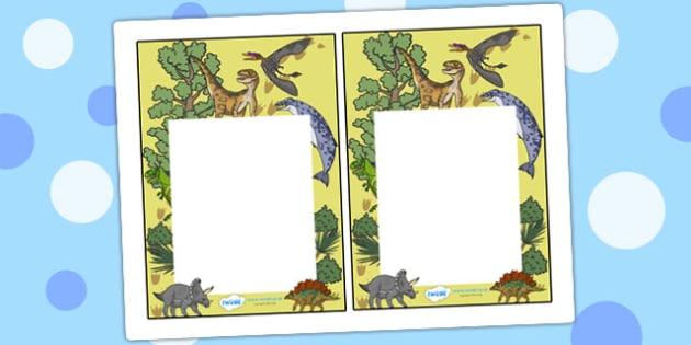 Realistic Dinosaurs Themed Editable Notes to Teacher - dinosaurs