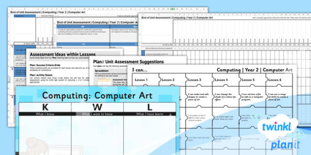 Computing: Computer Art Year 2 Assessment Pack
