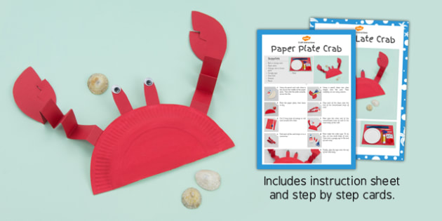 Image result for paper plate crab twinkl