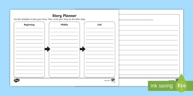Narrative Story Planning Template - English Resource - Twinkl