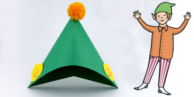 make your own elf hat instructions crafts art elves