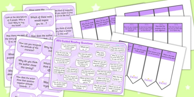 AF6 Guided Reading Resource Pack - AF6, guided reading, reading