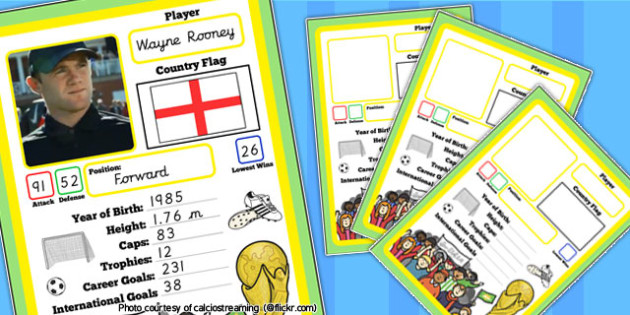 Editable World Cup Themed Card Game - football, game, sport