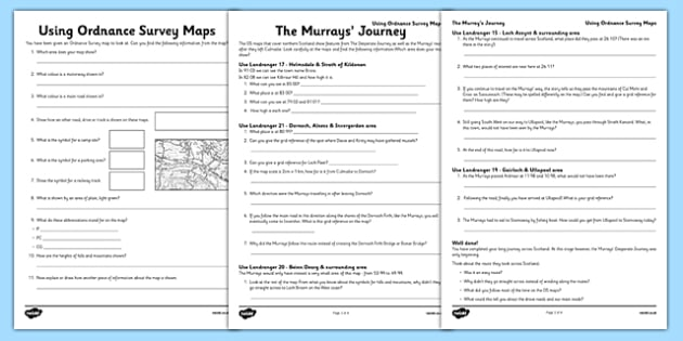 Using Ordnance Survey Maps Worksheet Activity Sheet Pack The