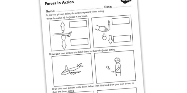 Forces In Action Worksheet Forces Forces And Motion Forces