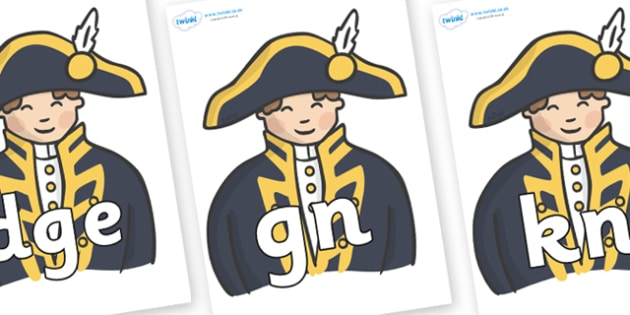Silent Letters on Admirals - Silent Letters, silent letter, letter blend, consonant, consonants, digraph, trigraph, A-Z letters, literacy, alphabet, letters, alternative sounds