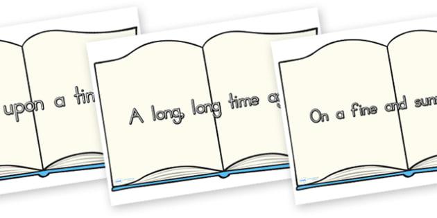 Traditional Story Opener Display Posters Book - opener, display