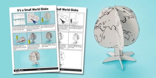 What a Wonderful World: It's a Small World Mini Globe - wonderful world