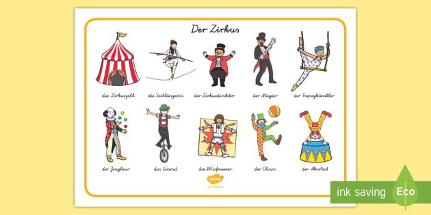 zirkus englisch