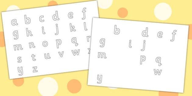 Editable Lowercase Alphabet Letter Formation Pack - letters, a-z