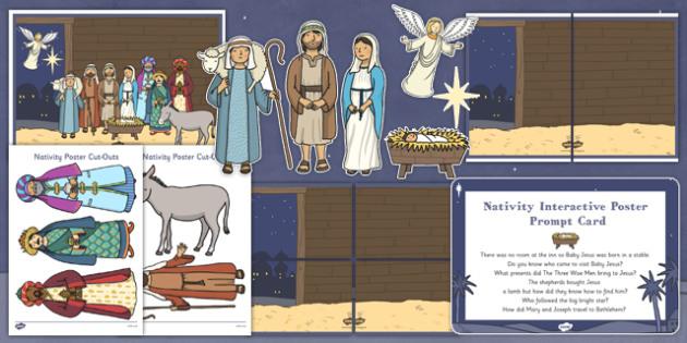 Childminder Nativity Display Pack - childminder, nativity, display pack, display, pack