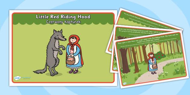 Little Red Riding Hood Story Polish Translation  - polish, little red