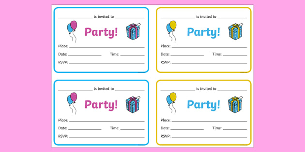 Free Birthday Party Invitations Birthdays Birthday Party Party